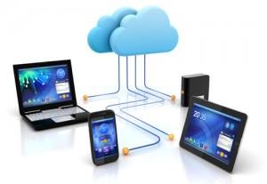 Esquema da nuvem, conexão de internet